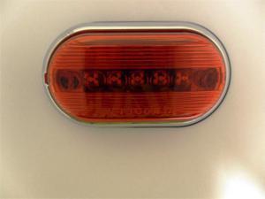 AutoSmart LED OBLONG CLEARANCE / SIDE MARKER LIGHT RED W CHROME HOUSING KL-15110RM