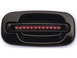 IPCW 99-06 Chevy Silverado/Avalanche/Suburban/Tahoe Cadillac Escalade GMC Sierra/Yukon/XL LED Door Handle Rear Black (2ps/set) No Key Hole Red LED/Smoke Lens CLR99B18R