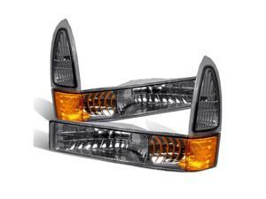 CG FORD EXCURSION 00-05/SUPER DUTY 99-04 FRONT BUMPER LIGHT SMOKE AMBER 10-FC00FBESM-A PAIR