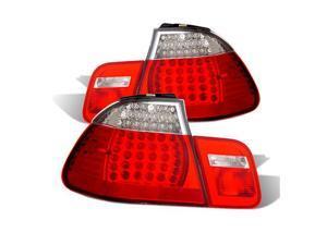 CG BMW 3 SERIES E46 02-04 4 DR L.E.D TAILLIGHT RED/CLEAR 4 PCS 03-B302TLED4D-4 PAIR