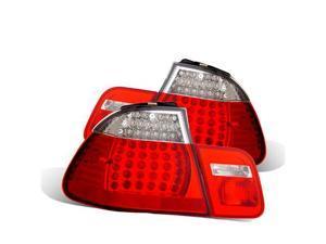 CG BMW 3 SERIES E46 99-01 4 DR L.E.D TAILLIGHT RED/CLEAR 4PCS 03-B39801TLED4D PAIR