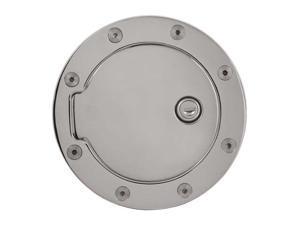 Bully Chrome w/lock Gas Door 07-11 GM Silverado / Sierra Fuel Filler Door Cover Chrome Plated Finish Billet Aluminum GD-103CK