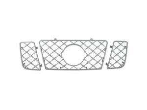 Bully Chrome Grille for a 08-09 NISSAN TITAN 3pcs OVERLAY STYLE  CLIP-ON ONLY Grille Insert GI-52