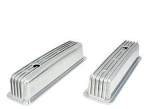 TSP Tall Cast Finned Aluminum Valve Covers SB Chevy JM8501-6