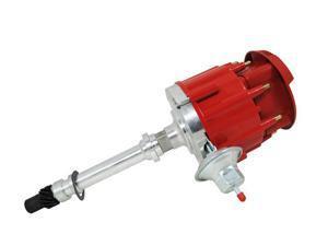 TSP HEI DISTRIBUTOR-CHEVY SB/BB V8 65K V COIL FLAT-COVER SUPER RED CAP JM6500R