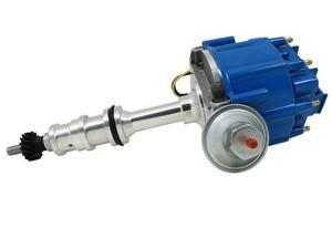 TSP HEI DISTRIBUTOR - Ford FE 332-428 VACUUM ADVANCE, BLUE CAP JM6508BL