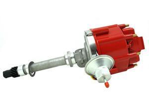 TSP HEI DISTRIBUTOR - CHEVY CORVETTE V8 TACH DRIVE SBC ENGINES,RED CAP JM6515R