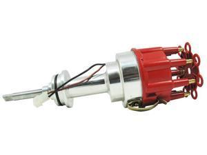 TSP Pro Billet Distributor-DODGE MOPAR 413 426 440 BB V8 RED JM6614R