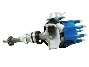 TSP Ready to Run Distributor - FORD 351C 429 460 CLEVELAND V8 BLUE CAP JM6706BL