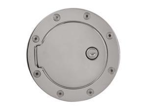 Bully Billet Aluminum Fuel Door Chrome Plated with Lock GD-201CK