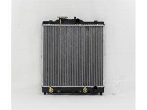 PAC 92-98 HONDA CIVIC SEDAN/COUPE/HATCHBACK A/T,4CY,1.5L 93-97 HONDA DELSOL S MODEL A/T,4CY,1.5L Radiator 1-row PLASTIC TANK/ALUMINIUM CORE PR1290A
