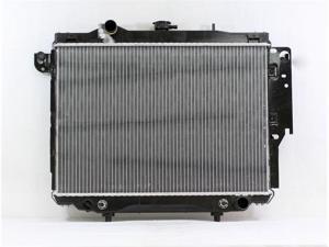 PAC 92-96 DODGE DAKOTA AT/MT,6/8CY,3.9/5.2L EXC.HEAVY DUTY Radiator 2-row PLASTIC TANK/ALUMINIUM CORE PR1709A