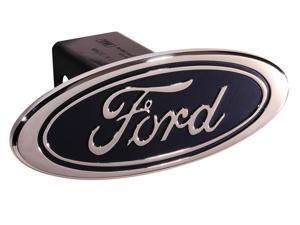 Defenderworx Ford - Blue - Premium Design - Oval - 2'' Billet Hitch Cover 60011