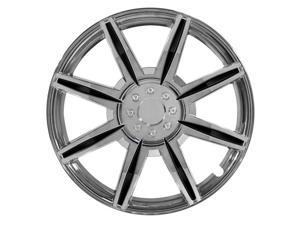 """Pilot 14"""" Chrome Wheel Cover 8 Spoke With Black Inserts WH541-14C-BLK"""