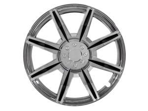 "Pilot 16"" Chrome Wheel Cover 8 Spoke With Black Inserts WH541-16C-BLK"