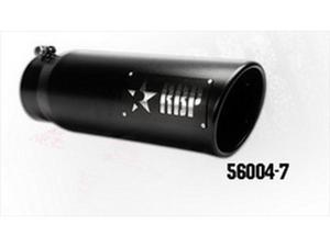 """RBP 56004-7 5""""-6""""X 18"""" Exhaust Tail Pipe Tip SS HEAT TREATED BLACK COATING W/LASER CUT TWO TONE LOGO(STANDARD SIDE)"""