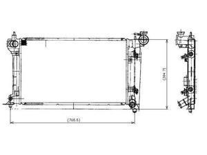 Denso 03-08 Pontiac Vibe/03-08 Toyota Corolla/03-08 Toyota Matrix Radiator 221-0514