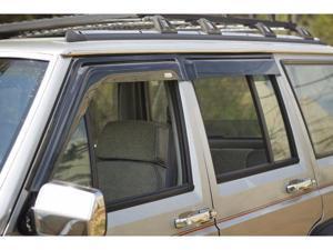 Rugged Ridge 11351.20 Window Rain Deflectors, 84-01 Jeep Cherokee XJ