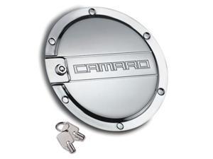 "T-REX 2010-2012 Chevrolet Camaro Defenderworx Locking Gas Door w/ ""CAMARO"" - Chrome CHROME 6910062"