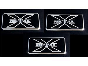 T-REX  X-METAL Series - Body Side Badges - 3 Pc - Black/ Machine BLACK/MACH 6700033