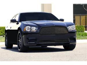 T-REX 2011-2011 Dodge Charger Upper Class Mesh Grille - Full Opening - All Black - With Formed Mesh Center BLACK 51441