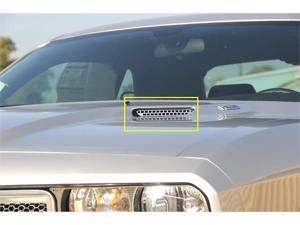 T-REX 2009-2012 Dodge Challenger (ALL) T1 Stainless Hood Scoop - Style 1 (Factory Look) - 2 Pc POLISHED 11416