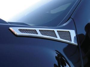 T-REX 2007-2012 Chevrolet Silverado 1500 & 07-10 HD Side Vent - Billet Chrome Plated - Silverado Models CHROME 54007