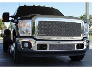 T-REX 2011-2012 Ford Super Duty Upper Class Polished Stainless Mesh Grille - W/ Optional Logo Plate POLISHED 54546
