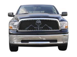 "T-REX 2010-2012 Dodge Ram PU 2500 / 3500 URBAN ASSAULT ""GRUNT"" - Studded Main Grille w/ Soldier - Black OPS Flat Black - Custom 1 Pc Opening (Requires Cutting center Bars) FLAT BLACK 7114516"
