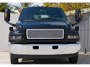 T-REX 2004-2010 Chevrolet Kodiak Upper Class Polished Stainless Mesh Grille - 1 Pc Style POLISHED 54087