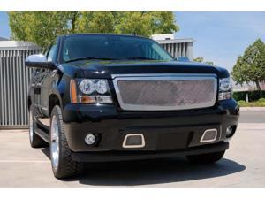 T-REX 2007-2012 Chevrolet Tahoe, Suburban, Avalanche Upper Class Polished Stainless Mesh Grille POLISHED 54053