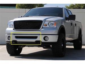 T-REX 2006-2008 Ford F150 (All Models) Upper Class Bumper Mesh Grille - All Black - With Formed Mesh (Mesh Only - No Frame) BLACK 52555