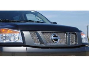 T-REX 2008-2012 Nissan Titan X-METAL Series - Studded Main Grille - Polished SS - 3 Pc - with Logo Opening POLISHED 6717810