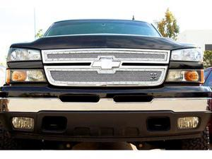 T-REX 2006-2006 Chevrolet Silverado 2500HD, 3500 (All 2006 Models) X-METAL Series - Studded Main Grille - Polished SS - 2 Pc Style POLISHED 6711060