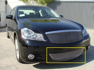 T-REX 2008-2010 Infiniti M35 / M45 Bumper Billet Grille Insert (Except road sensing cruise) POLISHED 25722
