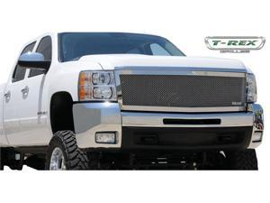 T-REX 2007-2010 Chevrolet Silverado HD Upper Class Polished Stainless Mesh Grille - 1 Pc Style (Replaces OE Grille) BLACK 54113