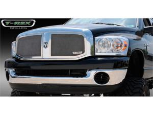 T-REX 2006-2008 Dodge Ram PU Upper Class Polished Stainless Mesh Grille - 2 Pc (Requires cutting factory cross bar) POLISHED 54467