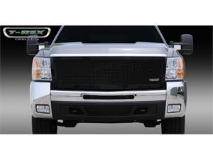 T-REX 2007-2010 Chevrolet Silverado HD Upper Class Mesh Grille - All Black - 1 Pc Style (Replaces OE Grille) BLACK 51113