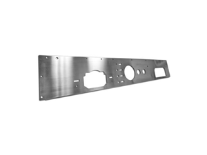 Rugged Ridge 11144.11 Dash Panel, Holes, Stainless Steel, 76-86 Jeep CJ Models