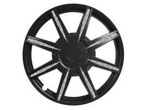 Pilot Diamond Dust 16 Inch Wheel Cover, Matte Black WH531-16B-B