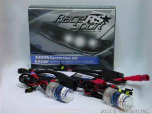 Race Sport H4-8K-SLIM 8000K HID Conversion Kit w/ Single Beam Bulbs & Slim AC Ballasts (European Blue)