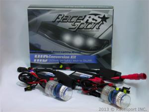 Race Sport H4-6K-SLIM 6000K HID Conversion Kit w/ Single Beam Bulbs & Slim AC Ballasts (Crystal White)