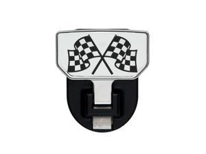CARR HD Universal Hitch Step Checkered Flag - single 183082