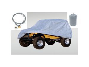 Rugged Ridge 13321.73 Full Car Cover Kit, 04-12 Jeep LJ And JK Wrangler Unlimited