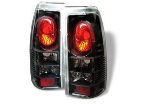Spyder Auto Chevy Silverado 1500/2500/3500 99-02 / GMC Sierra 1500/2500/3500 99-02 Euro Tail Lights - Black ALT-YD-CS99-BK