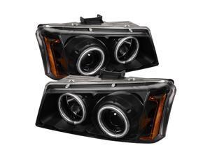 Spyder Auto Chevy Silverado 1500/2500/3500 03-06 CCFL LED ( Replaceable LEDs ) Projector Headlights - Black PRO-YD-CS03-CCFL-BK