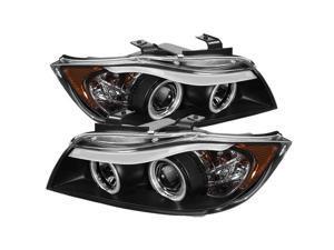 Spyder Auto BMW E90 3-Series 06-08 4Dr CCFL Amber Eyebrow ( Replaceable Eyebrow Bulbs ) Projector Headlights - Black PRO-YD-BMWE9005-CCFL-BK