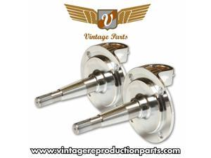 Vintage 1928 - 1948 Ford Chrome Spindle (Pair) VPASPIN13