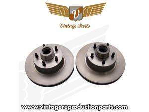 Vintage 11in 1928 - 1948 Ford Rotors 5x4.5 Ford Bolt Pattern - 1 Pair VPABR9