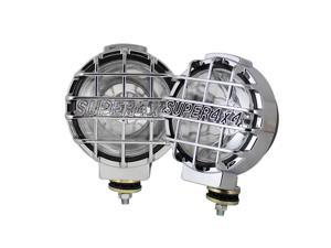 Spyder Auto Universal Super 4x4 6.5 Inch Black Housing Fog Lights W/Switch - Euro 5031983